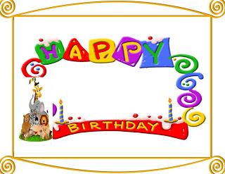 6 Free Borders for Birthday Invitations!