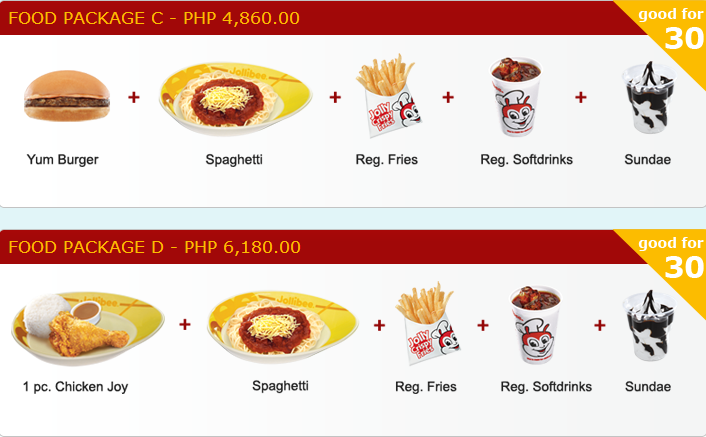 jollibee kids party package