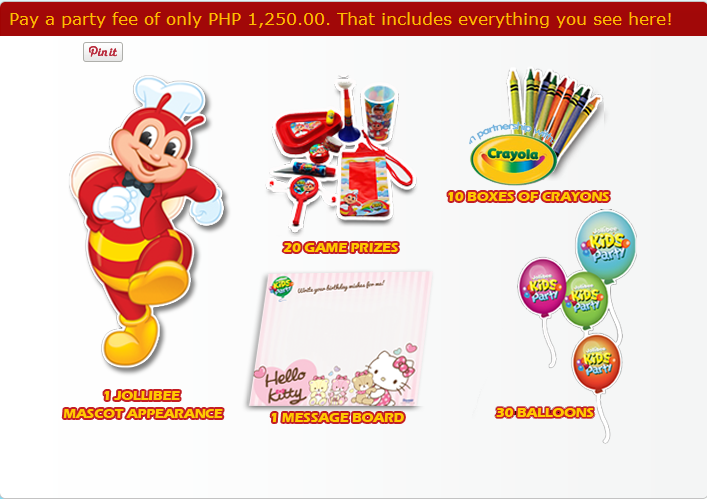 2018 Jollibee Party Packages