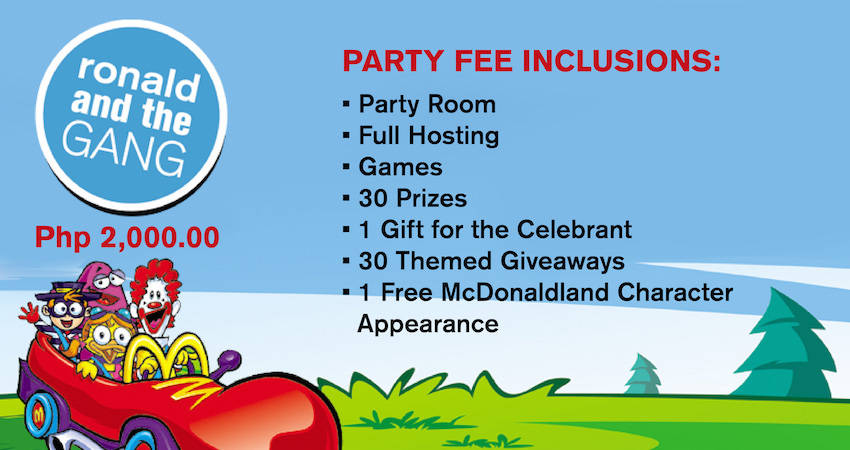 2018 Mcdonalds Party Packages Updated