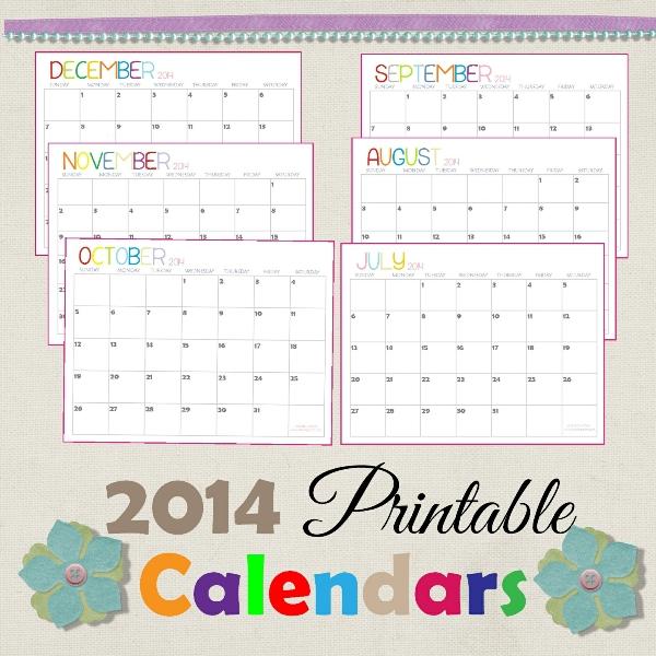 2014 Printable Calendars {Fresh Designs!}