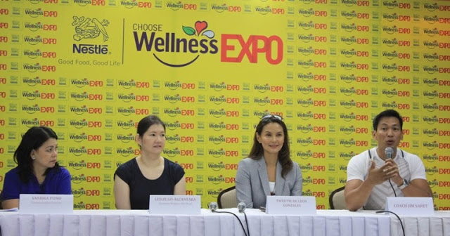 Coach Jim's 4-Minute Workout and Ms. Tweety De Leon's Wellness Tips at Nestlé Choose Wellness Expo!