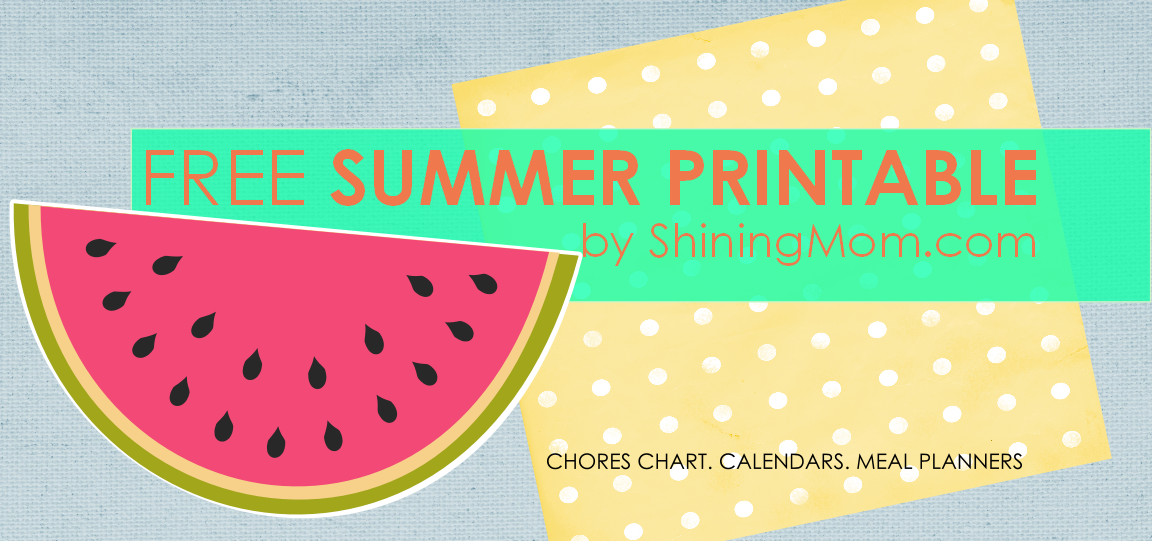 FREE PRINTABLE HOME ORGANIZERS FOR SUMMER