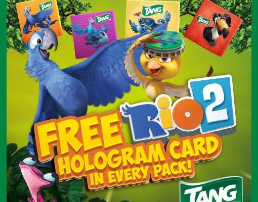 Experience a different adventure with Tang's Rio 2 hologram cards!