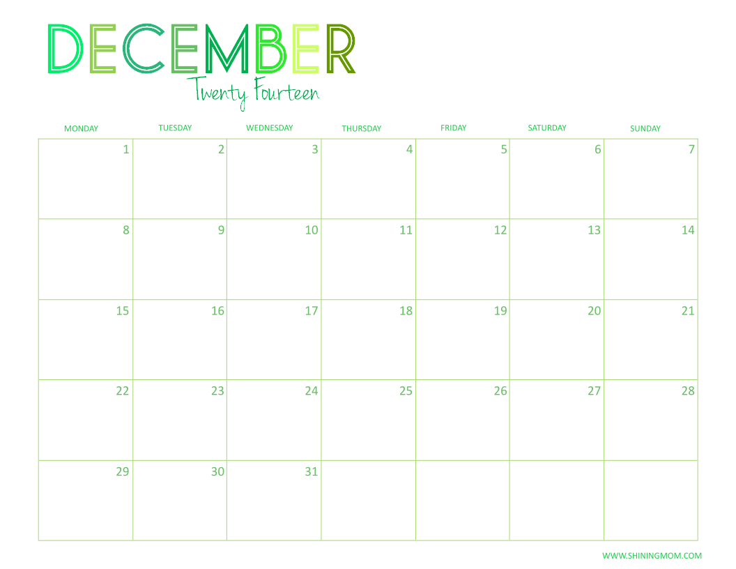 ... the January to December calendar in PDF format, click the link below