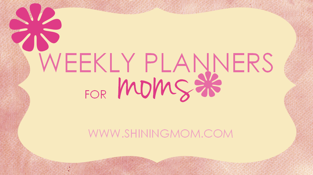 Just For Moms: Free Printable Weekly Planner