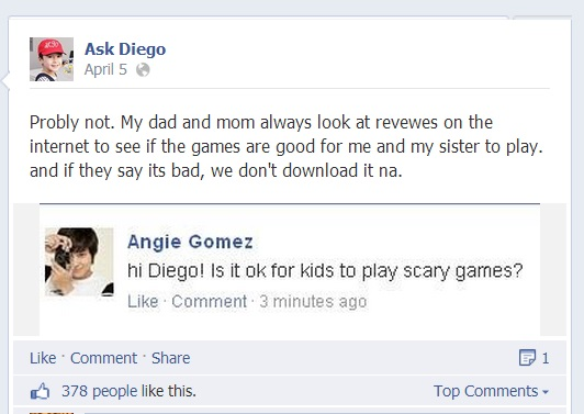 ask diego on facebook 2