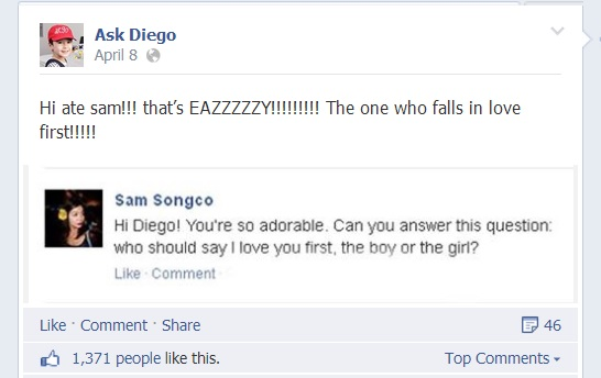 ask diego on facebook