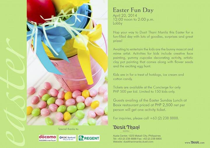 dusit thani easter fun day