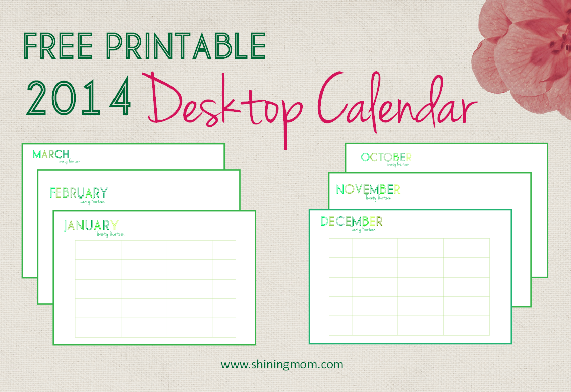 Free Calendar Printables September : Free printable desktop calendar