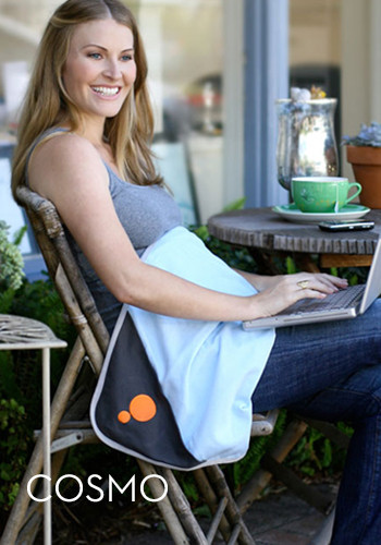 To use the BELLY BLANKET, During pregnancy, just drape over your midsection while sitting or lying down and your baby.