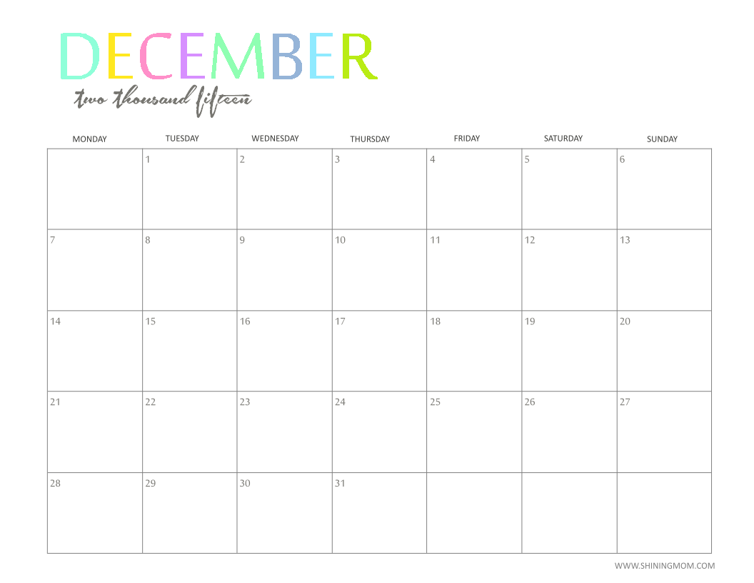For the PDF version of these pretty calendars, follow the link below.