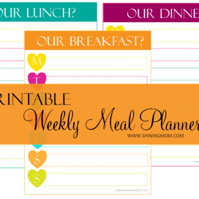 Home Organizer: Printable Meal Planners