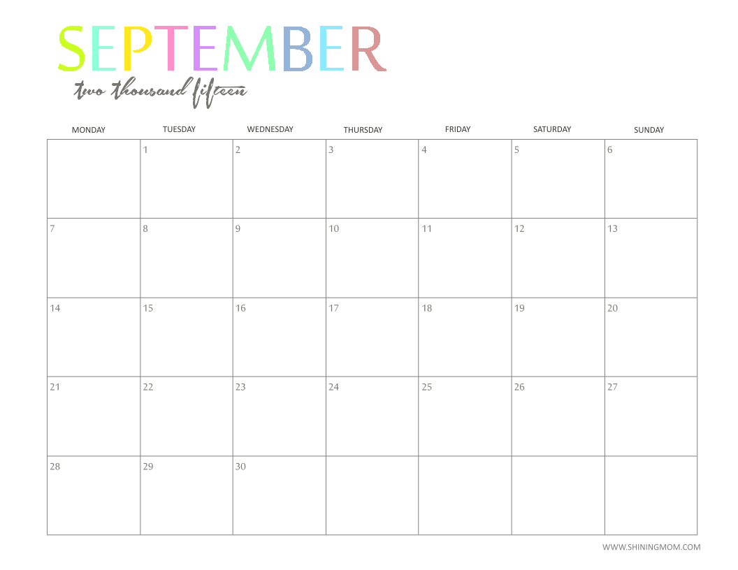 Displaying 16> Images For - September Calendar 2015...