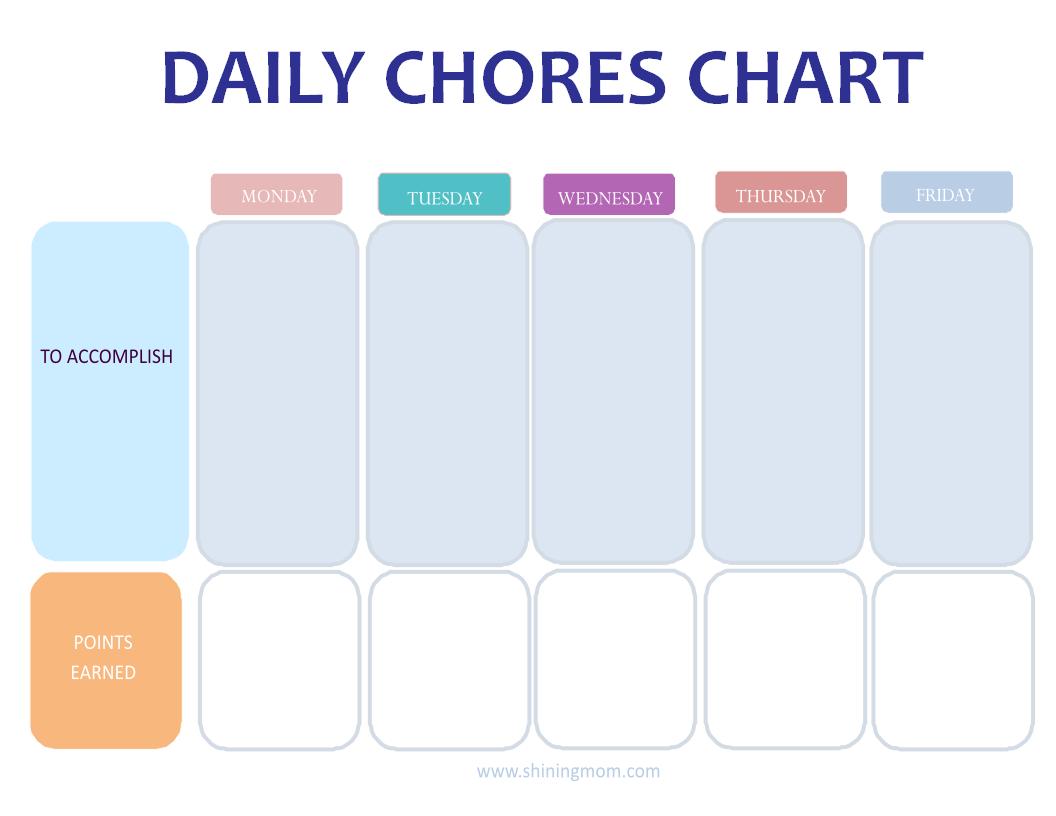 CHARTS FOR DAILY CHORES