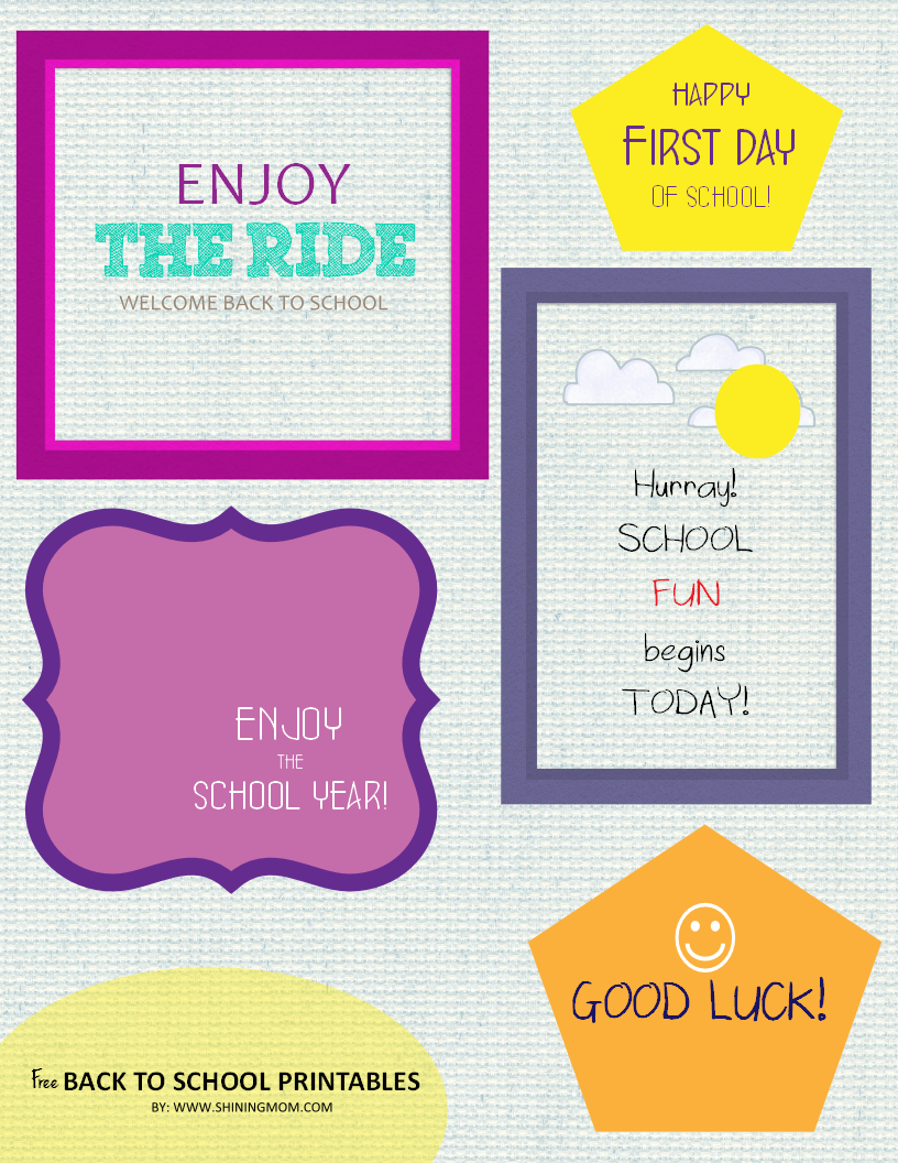 FREE BACK TO SCHOOL PRINTABLES 2