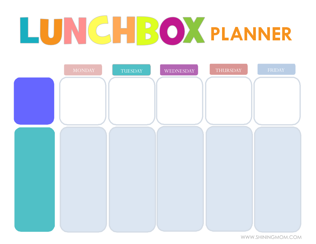 FREE PRINTABLE LUNCHBOX PLANNER