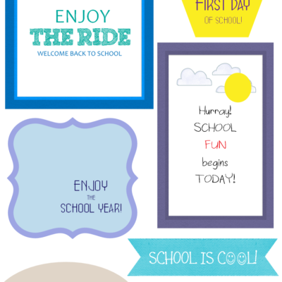 More Back to School Printables!