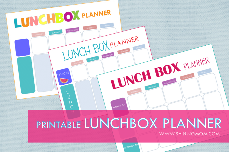 printable lunchbox planner free