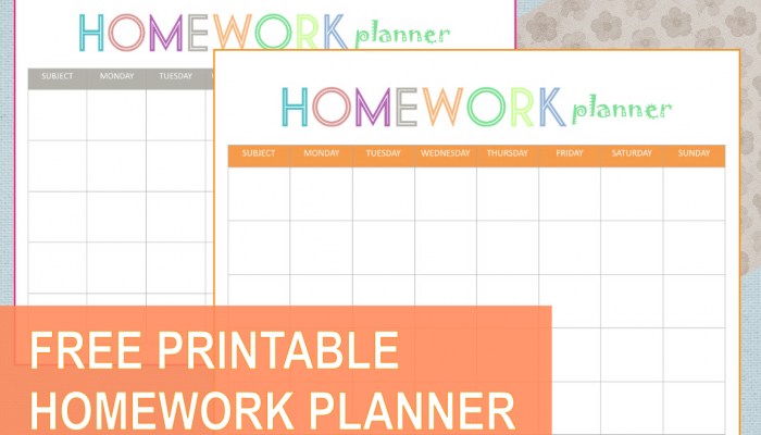 It's just a photo of Printable Homework Planner pertaining to weekly