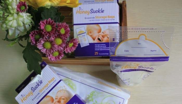 Honeysuckle® Breastmilk Storage Bags Review + Giveaway