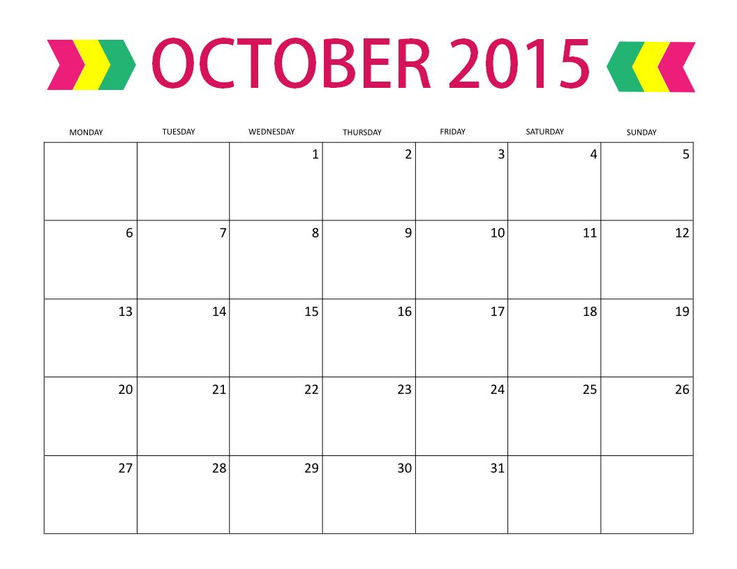 october 2014 calendar free