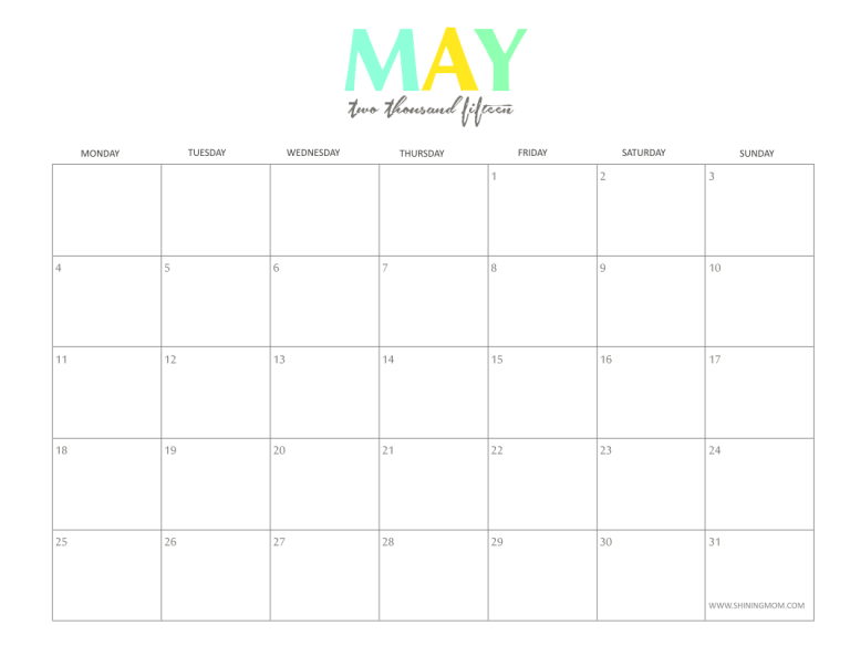Please note that each monthly calendar posted here is for previewing ...