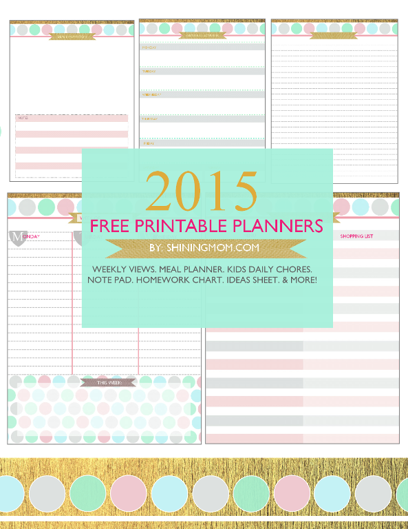 10 Free Printable Planners for 2015 - The Clueless Mom