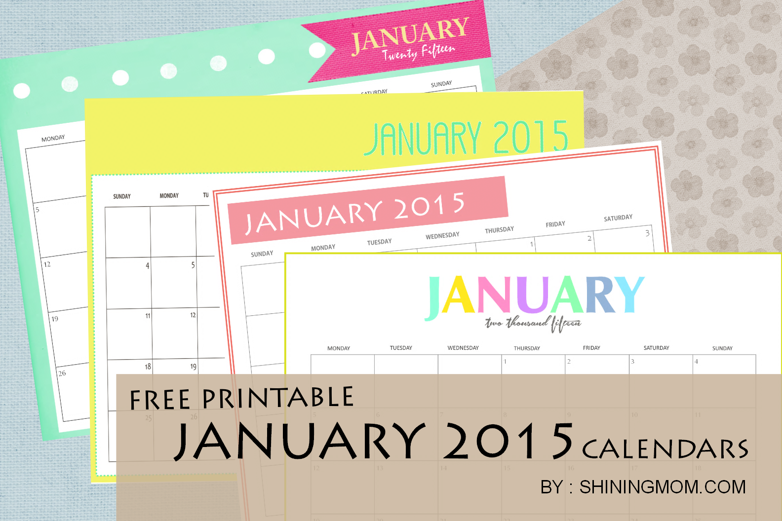 printable free monthly calendar 2015