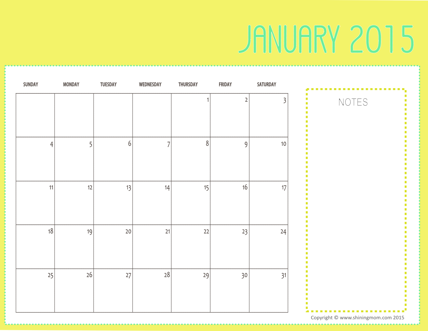 Printable Calendars By Month You Can Write In | elHouz