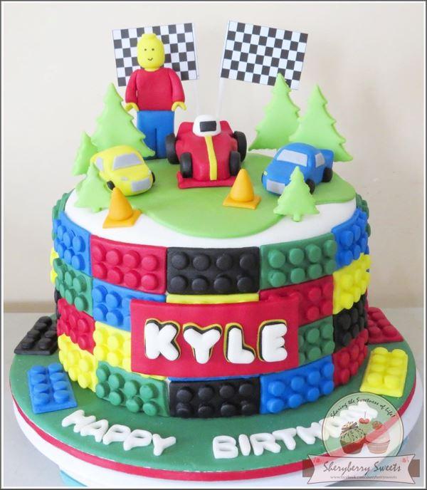 lego cake party