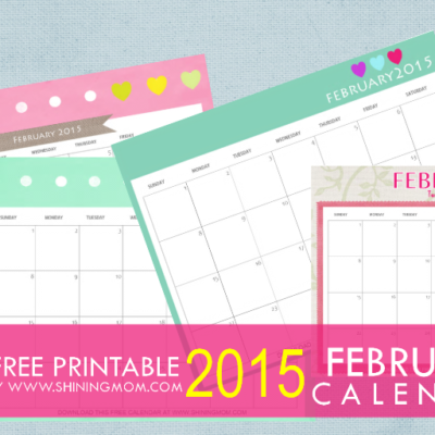 Designs You'll Love: Free Printable February 2015 Calendar