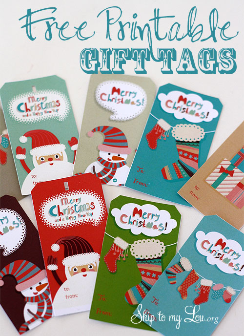 free printable christmas gift tag