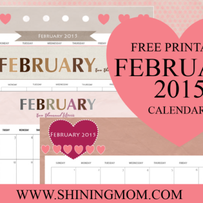 Just in: Cute February 2015 Calendars!