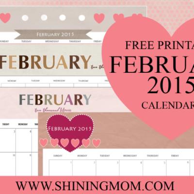 Just in: Cute February 2015 Calendars!