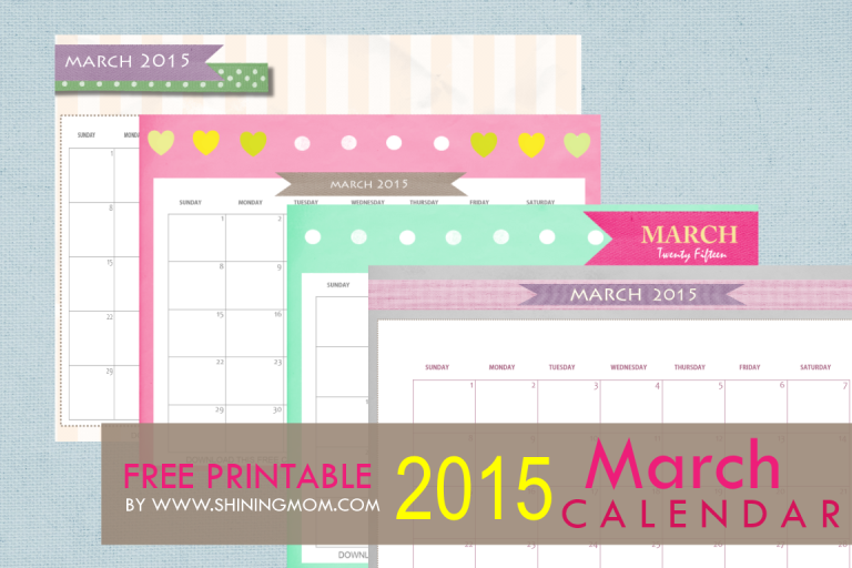 march 2015 printable caledar
