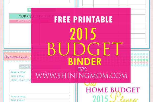Printable: Family Budget Binder