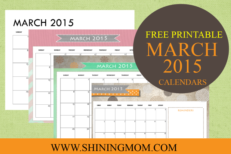 MARCH 2015 CALENDAR by shining mom