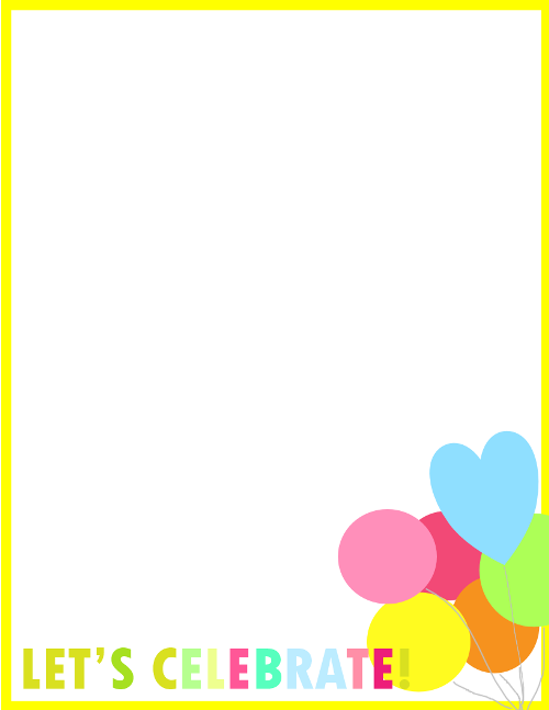 birthday border for invitation