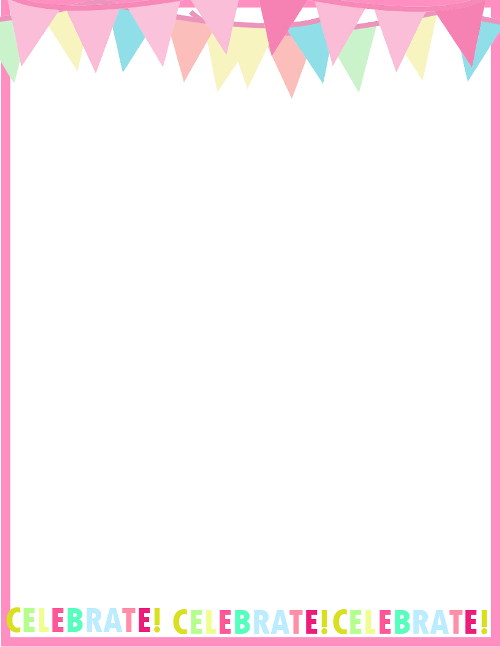 Fresh designs birthday borders for invitations and more birthday border for invites stopboris Image collections