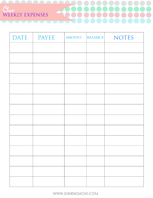 budget planner for family