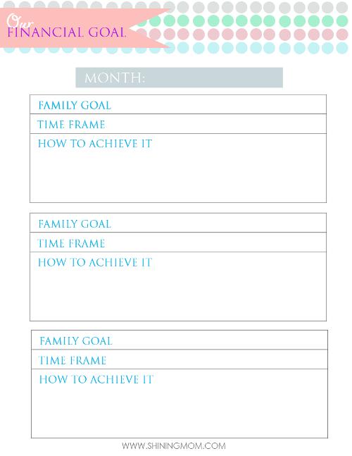family budget organizer