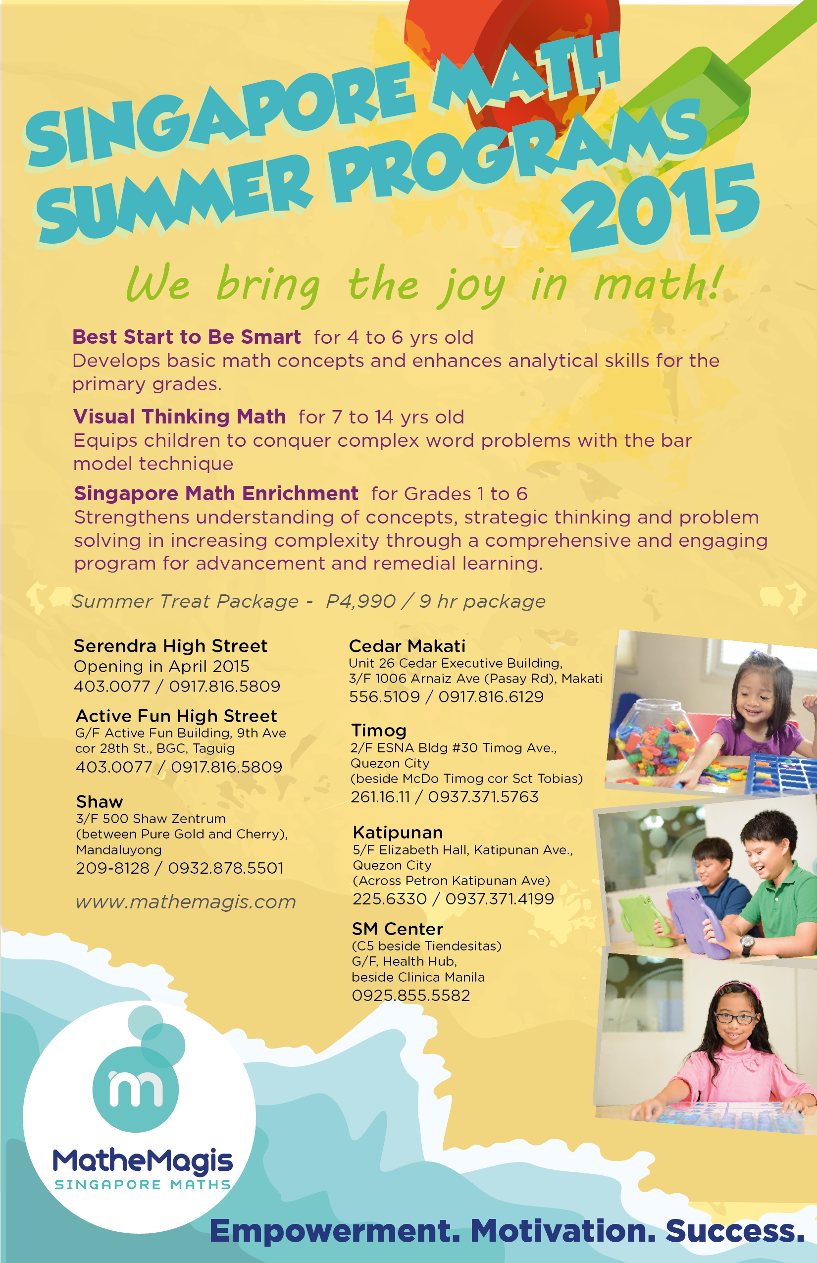 SUMMER 2015 PROGRAM FOR SINGAPOREAN MATH