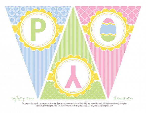 free bunting for easter'