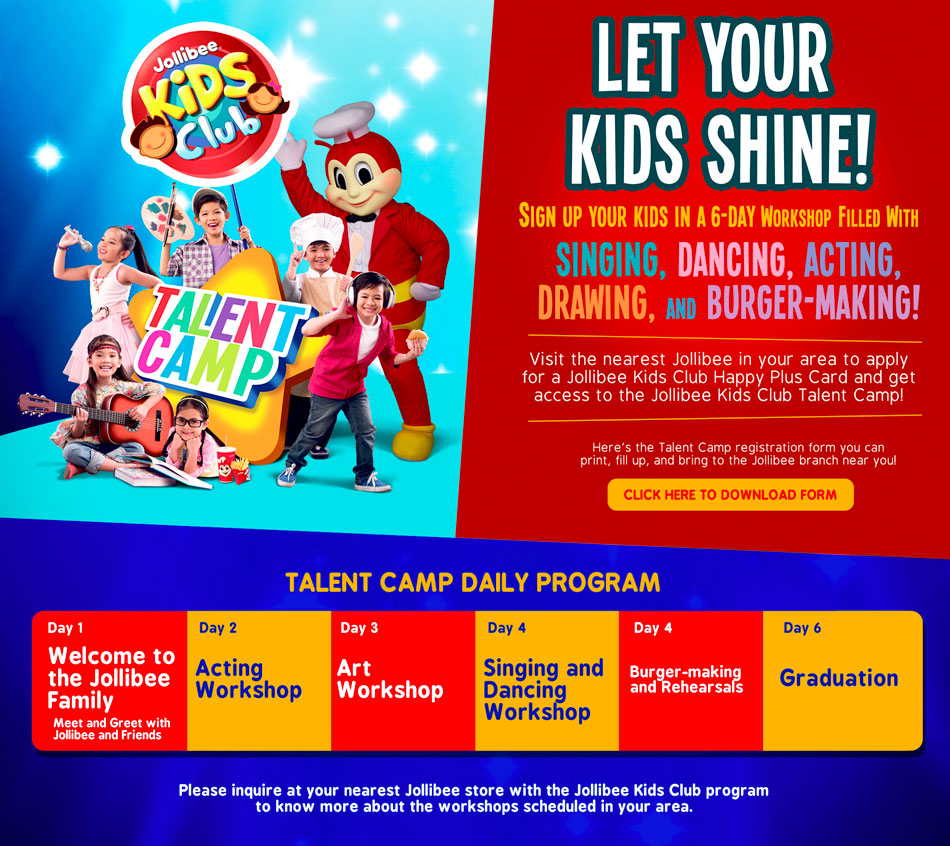 jolibee summer talent camp 2015