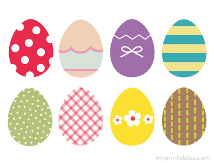 picture relating to Free Printable Easter Eggs identified as Cost-free Printable for Your Easter Get together!