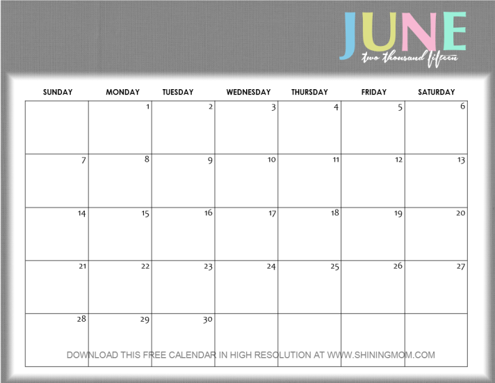 Result Calendar June : Write on june calendar search results