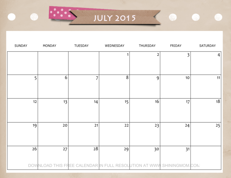 Calendar Design July : Lovely july calendars