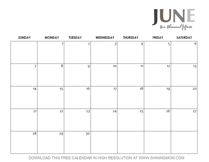 june 2015 calendar template weekly .