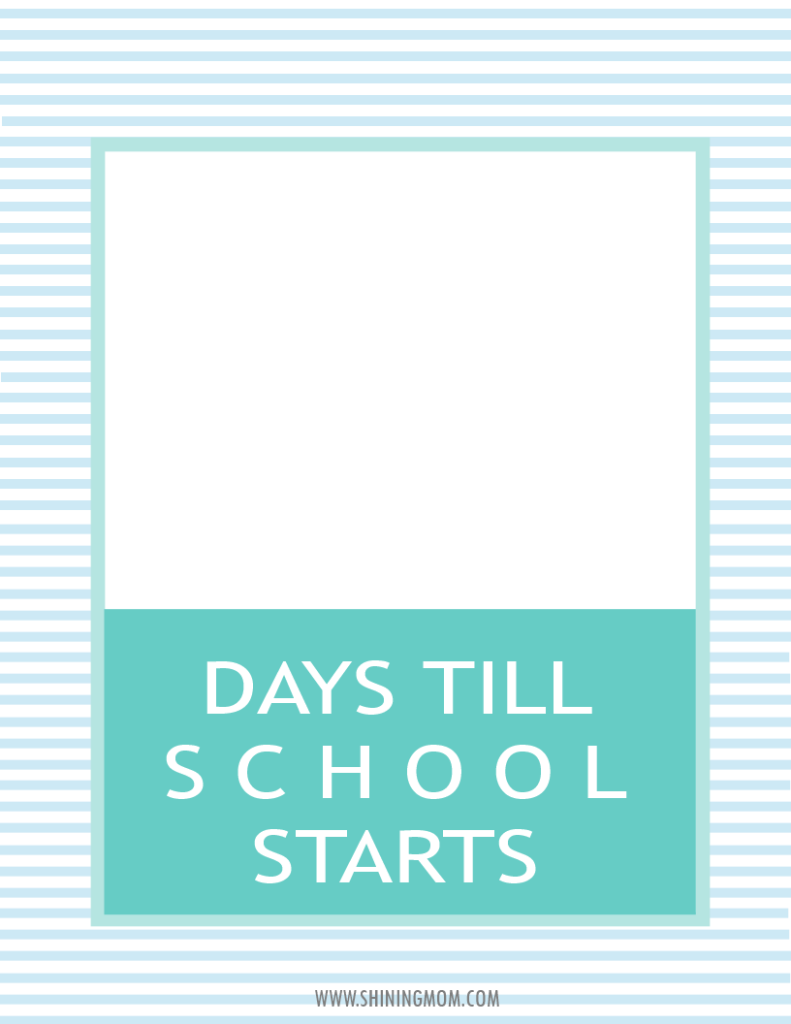 days till school printable